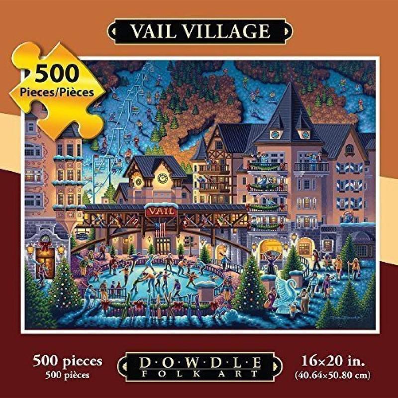 Dowdle Folk Art Puzzle - Vail Village 500 Pc