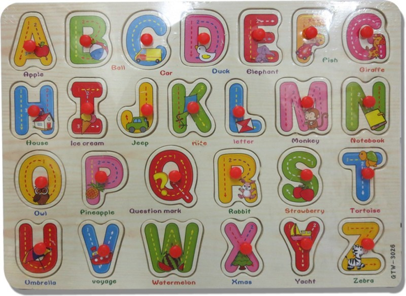 DCS Junior English Letters With Knob(26 Pieces)