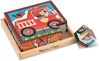 Melissa & Doug Vehicle Puzzle Cube