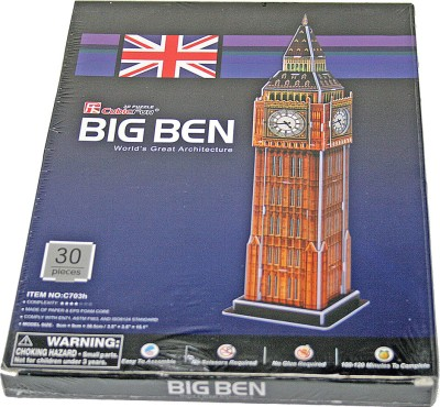 Adraxx Junior Educational 3D Board Big Ben Tower Clock Modeling Kit(30 Pieces)