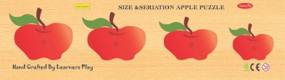 Learner's Play Size & Serration Apple Knob Puzzle