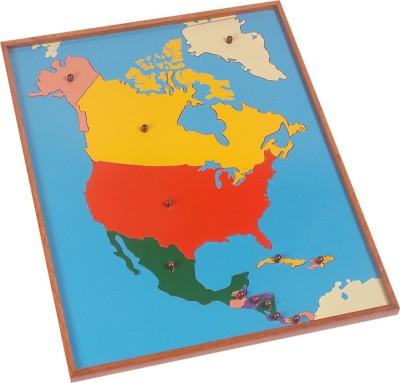Kidken Montessori Map Puzzle: North America