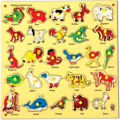 Skillofun Skillofun Animal Alphabet Tray (With Knobs)