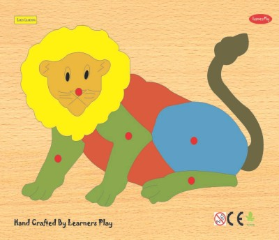 Learner's Play Lion Knob Puzzle