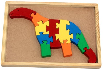 Luk Luck Educational Wooden Toy Dinosaur Puzzle