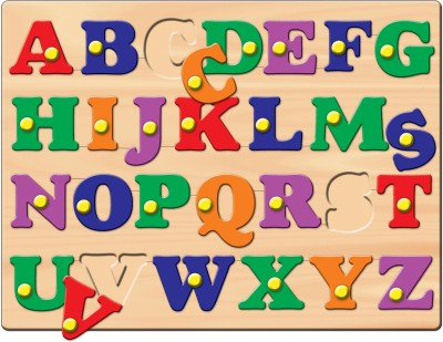 Prasima Toys Alphabet Puzzle with Peg