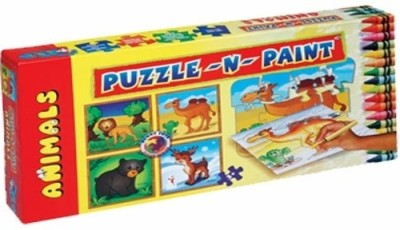 Sunny Puzzle N Paint Animals