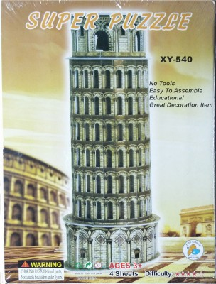 Hrinkar Junior Puzzles 3d Paper Pisa Tower Xy-540 Toy For Kids