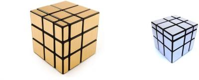 Emob Magic Rubik Cube Puzzle Combo (Gold Mirror & Silver Mirror Cube)