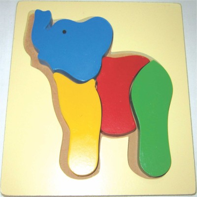 Learner's Play Elephant Puzzle-Raised