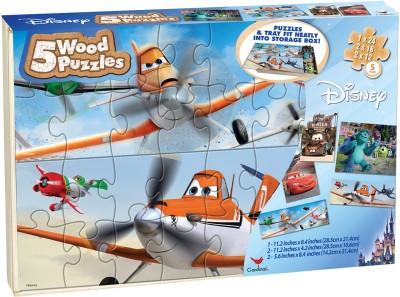 Cardinal Disney Planes-5 Wood Puzzle)