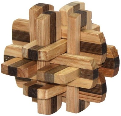 Cubelelo Wooden Dual Colour 12 Blocks Puzzle