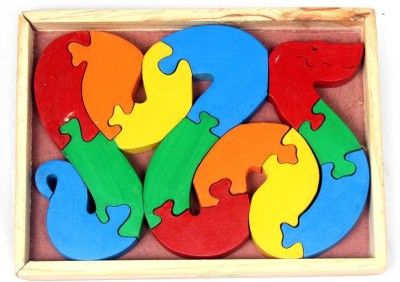 Luk Luck Educational Wooden Toy Snake Puzzle