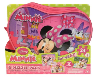 Disney Minnie Mouse Carry and Go Jigsaw Puzzle in Bags