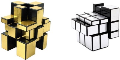 Prro Golden And Silver Mirror Cube Combo