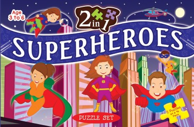 ART FACTORY 2 IN 1 SUPERHEROES