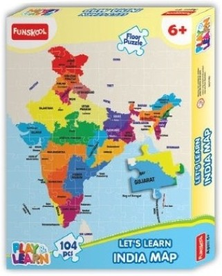 Funskool India Map Puzzles Learning Game