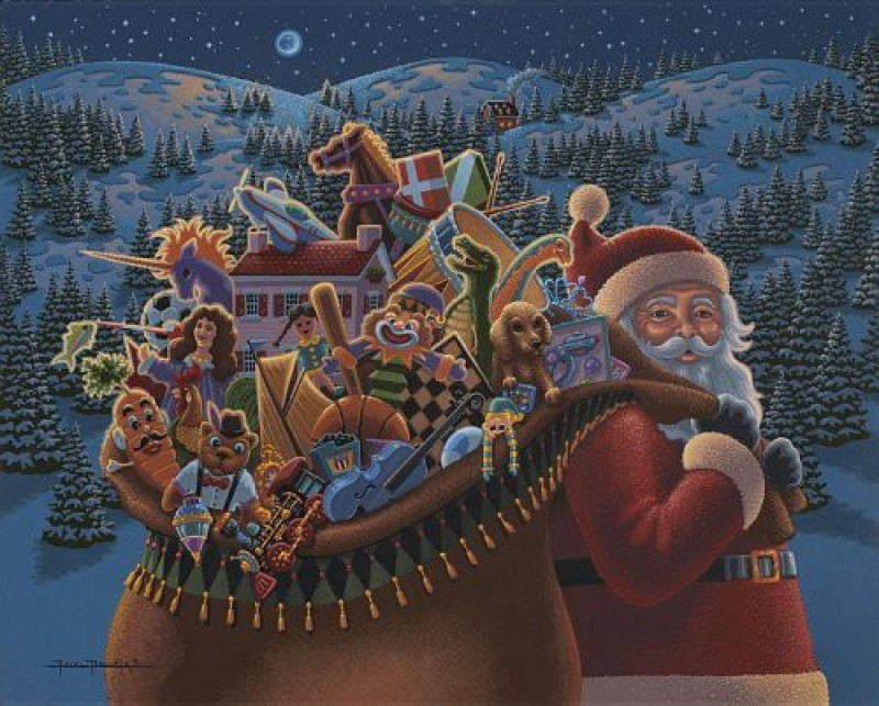 Dowdle Folk Art Puzzle - Christmas Delivery 500 Pc