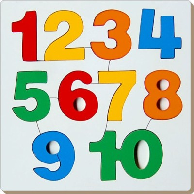 TOMAFO Number Inset Tray Puzzle-1 to 10