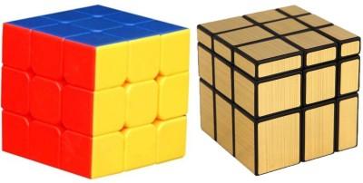 Vaniha Mirror Cube Golden and Rubiks Speed Cube Stickerless