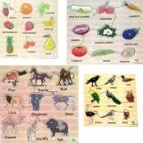 DealBindaas Wooden Puzzle Birds,Animals,...