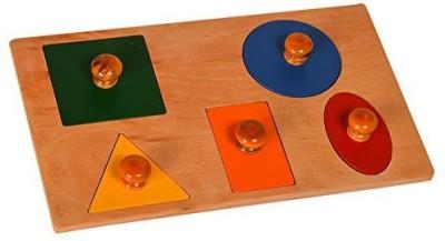 Kidken Montessori Five Shape Toddler Puzzle