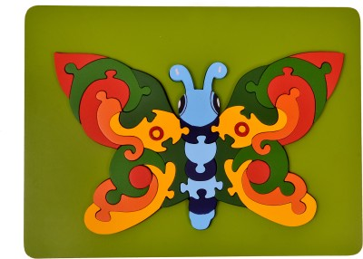 wood o plast Butterfly Raised Puzzle Tray
