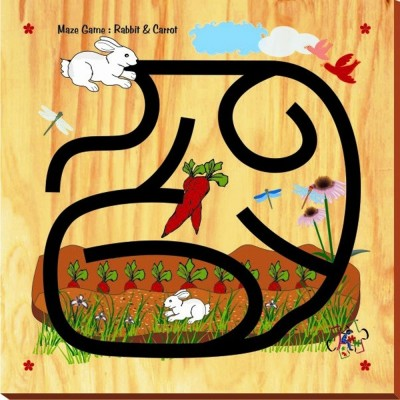 Kinder Creative Maze Game - Rabbit & Carrot
