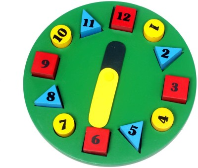 Luk Luck Educational Wooden Toy Clock Puzzle