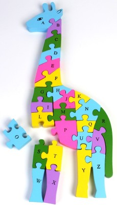 Pigloo Wooden Giraffe Puzzle Toy