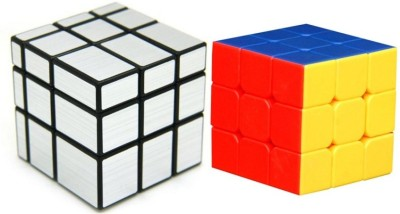 Montez Shengshou Sliver Mirror Cube & Stickerless Cube Combo