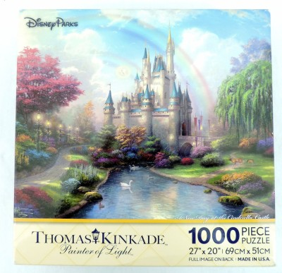 Disney Parks A New Day at the Cinderella Castle Thomas Kinkade 1000 Piece Jigsaw Puzzle