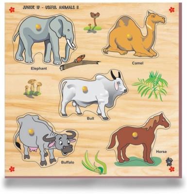 Skillofun Skillofun Junior Identification Tray - Useful Animals - II (Elephant)