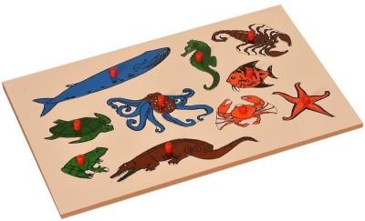Kidken Montessori Insert Board Aqua animals