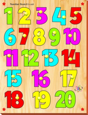 Kinder Creative Number Board with Knobs