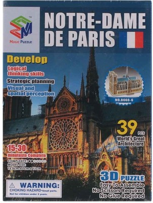 Magic Puzzle Notre Dame De Paris 3D Puzzle