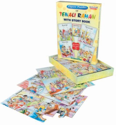 RZ World Tenali Raman Puzzle With Story Book