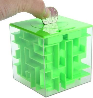 ShopperBay Maze Money Box Cube Green