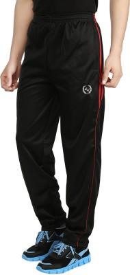 Fashion Flag Solid Men's Black Track Pants