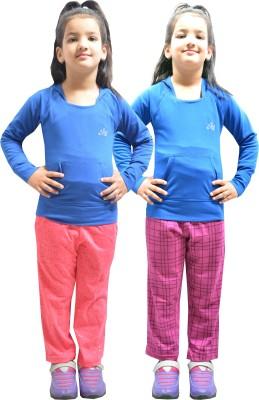 Shaun Printed Girl's Multicolor Track Pants at flipkart