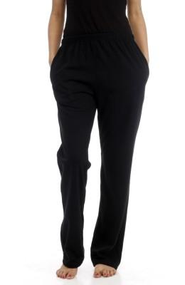 A N, E Solid Women's Black Track Pants