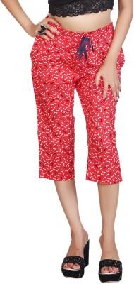 F FASHIONSTYLUS Women's Red Capri