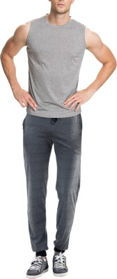 RIPR Self Design Men's Grey Track Pants
