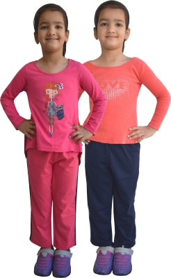 Shaun Track Pant For Girls(Pink)