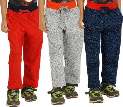 Shaun Solid Boy's Red, Grey, Dark Blue Track Pants