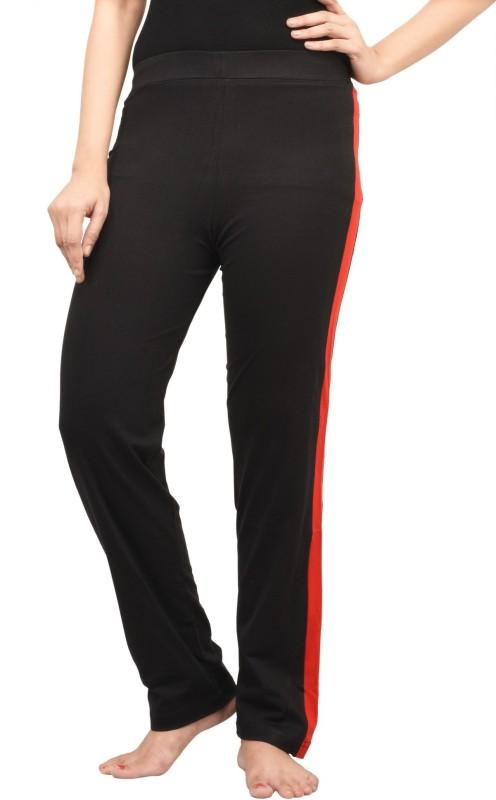 Nite Flite Solid Women's Black, Red Track Pants