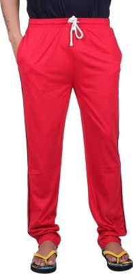 Vivid Bharti Rich Cotton Sinker Solid Men's Red Track Pants