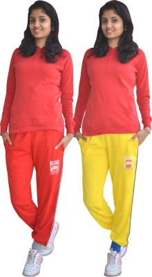 Shaun Solid Women's Multicolor Track Pants at flipkart