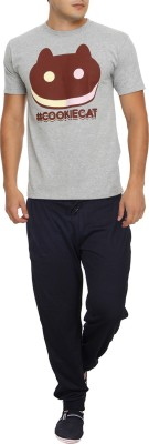 RIPR Self Design Men's Black Track Pants