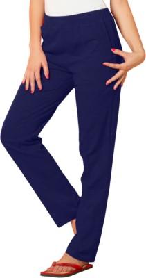 Sweet Dreams Solid Women's Blue Track Pants